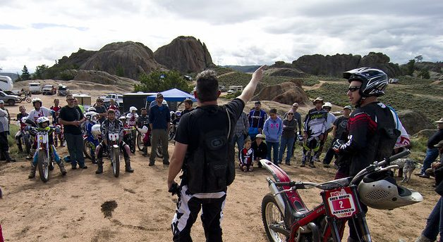 photo of rider meeting